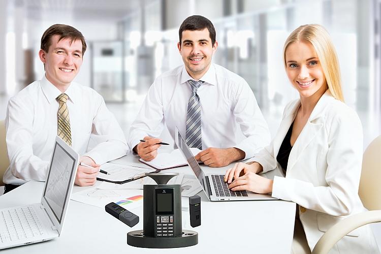 Sistema Audio Wireless, telefono per conferenze + VoIp